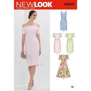NEW LOOK SEWING PATTERN N6615 MISSES' DRESSES