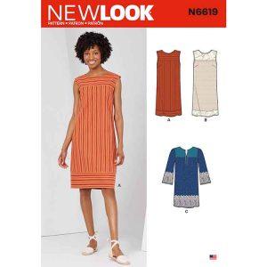 NEW LOOK SEWING PATTERN N6619 MISSES' DRESSES
