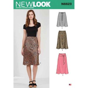NEW LOOK SEWING PATTERN N6623 MISSES' SKIRT IN THREE LENGTHS