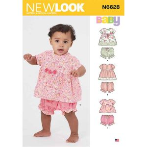 NEW LOOK SEWING PATTERN N6628 BABIES' DRESS AND PANTALOONS