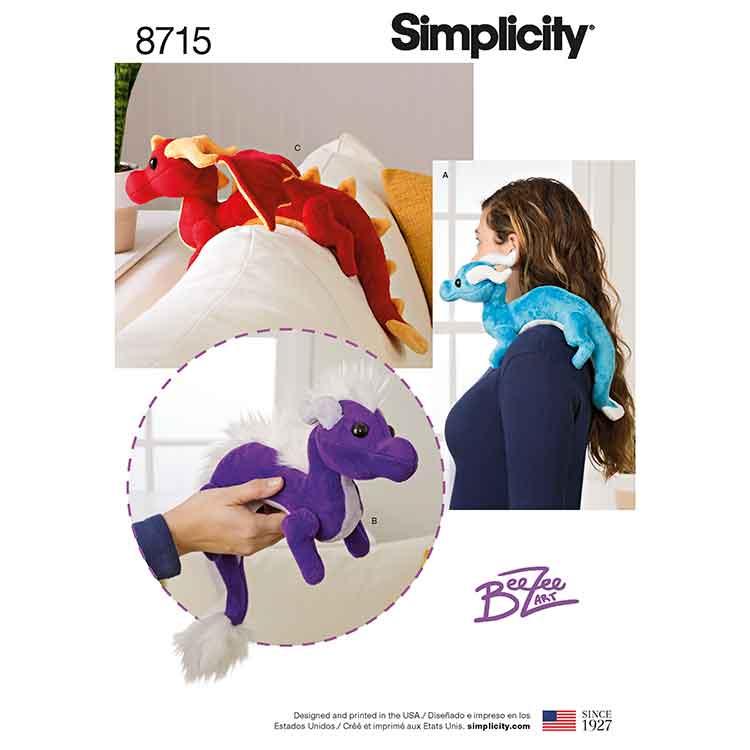 Simplicity 8715, Stuffed Dragons