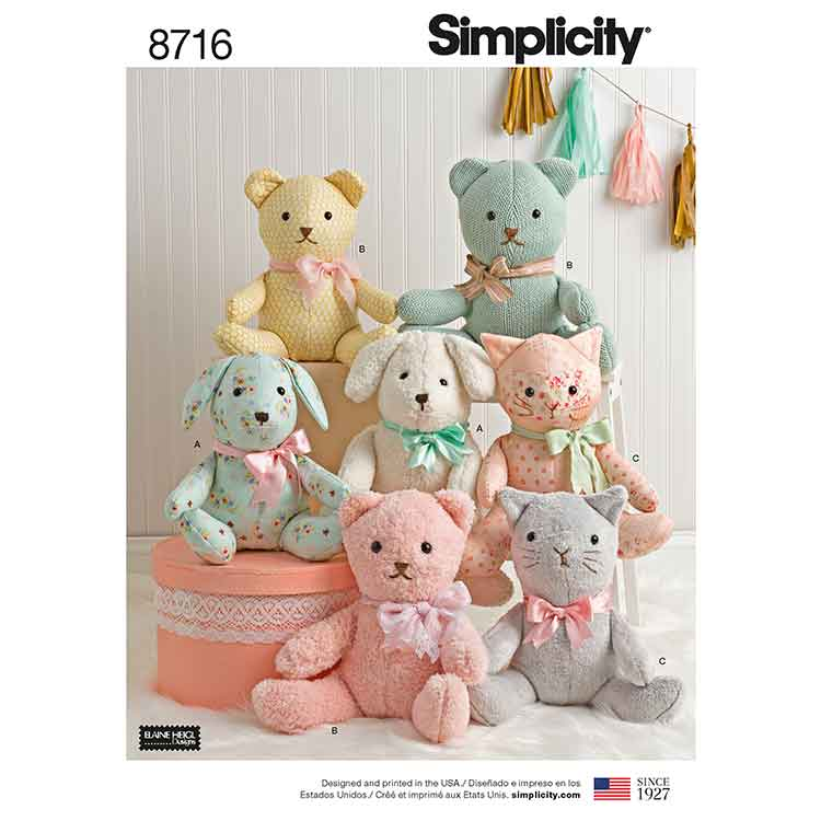 Simplicity 8716, Stuffed Animals