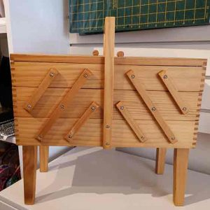 3-tier cantelever sewing box with legs