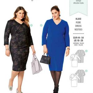 Burda B6259, WOMEN'S PLUS SIZE WRAP DRESS