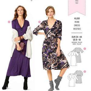 Burda B6271, MISSES' / WOMEN'S JERSEY DRESS