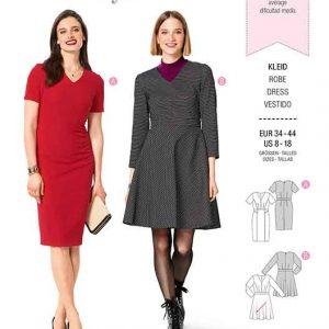 Burda B6279, MISSES' / WOMEN'S DRESS WITH NARROW SKIRT/PANEL SEAMS