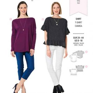 Burda B6280, MISSES' / WOMEN'S TOP WITH SCOOPED NECKLINE