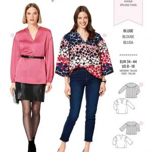 Burda B6284, MISSES' / WOMEN'S BLOUSE WITH BACK YOKE AND OVERCUT SHOULDERS