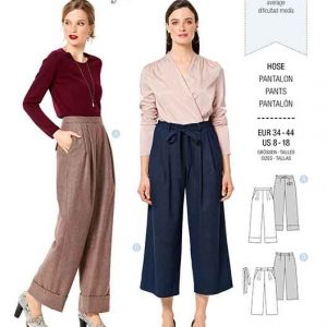 Burda B6286, MISSES' / WOMEN'S PLEATED PANTS