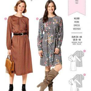 BURDA 6295 MISSES' / WOMEN'S DRESS WITH GATHERED NECKLINE