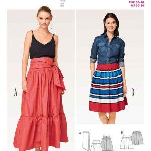 Burda Style B6514, Women's' Tiered Skirt