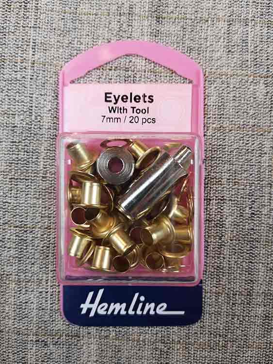 20 eyelets Nickel tool 5 mm threading