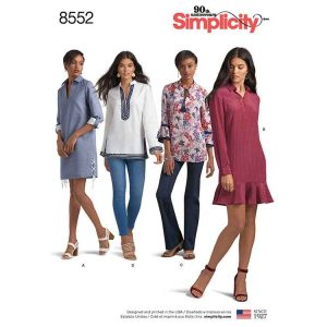 Simplicity 8552, Women's / Petite Women's  Dress or Tunic