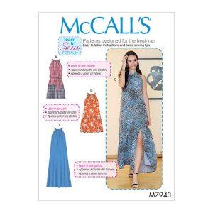 M7943 Misses' Dresses