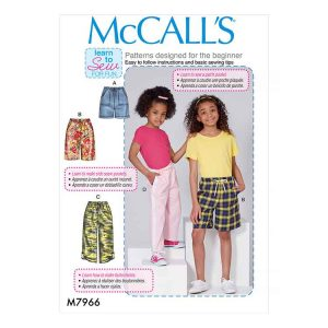 M7966 Children's and Girls' Shorts and Pants