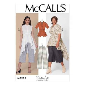 M7985 Misses' and Women's Top, Tunics, and Pants