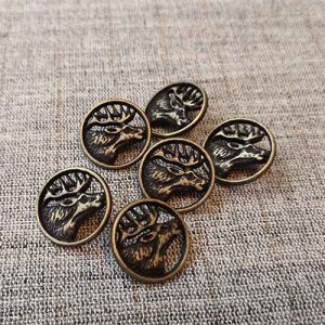 Bronze metal stag head buttons (20mm)