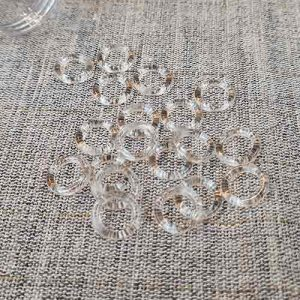 Clear plastic rings (for Roman blinds, etc)