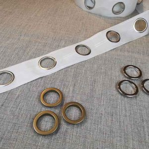 Curtain eyelet rings (for use with tape)