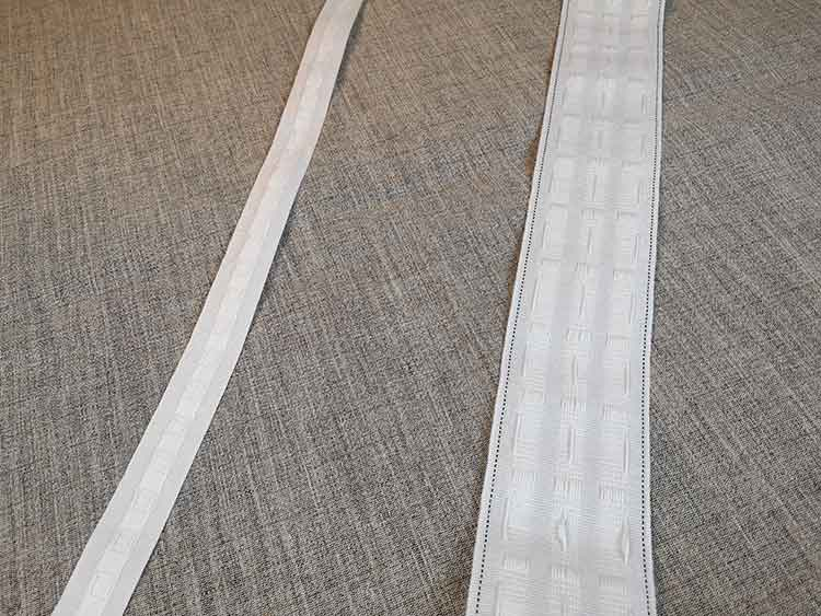Curtain tape (for use with hooks)