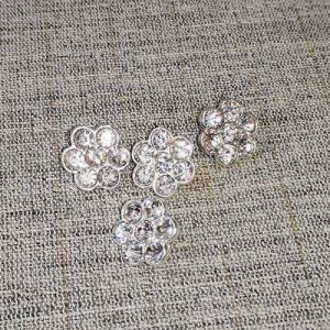 Glass diamante buttons (16mm)
