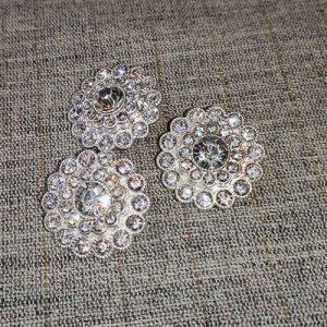 Glass diamante buttons (26mm)
