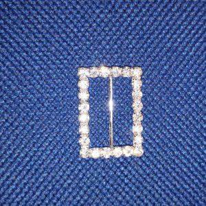 Rectangular diamante buckle (32mm)