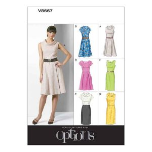 V8667 Misses'/Misses' Petite Dress
