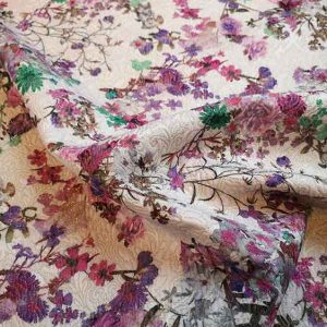 Cotton mix floral jacquard