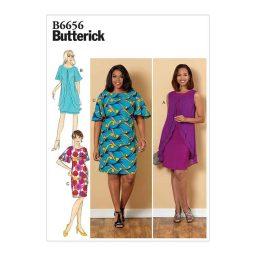 B6656 Misses'/Misses' Petite/Women's/Women's Petite Dress