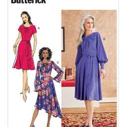 B6704 Misses' Dress & Sash
