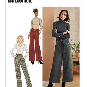 B6715 Misses'/Misses' Petite Pants, Sash & Belt