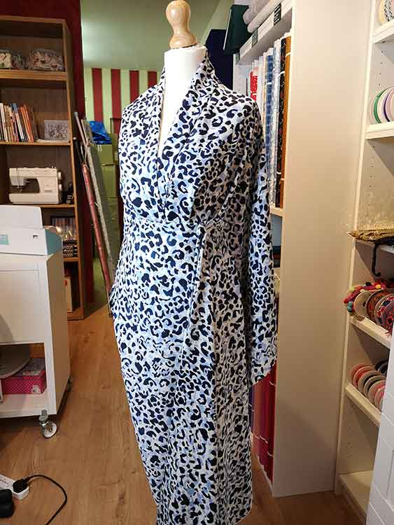 "Polyester print ""Leopard"""