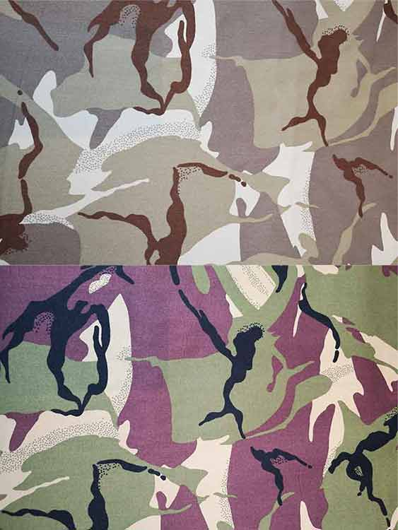 100% Cotton Camouflage Twill