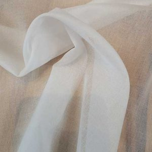 White cotton batiste interfacing