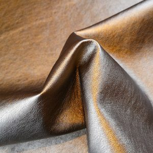 Leather-Look PU/viscose fabric (Copper)
