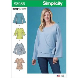 S8986 Misses' and Women's Draped Blouse