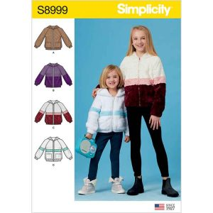 S8999 Children's and Girls' Knit Hooded Jacket