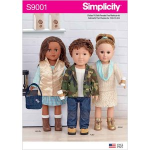 """S9001 18"""" Unisex Doll Clothes"""