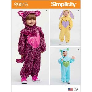 S9005 Toddlers' Bunny, Bear, and Cat Costumes