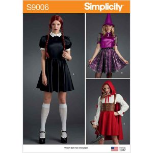 S9006 Misses' Halloween Costumes