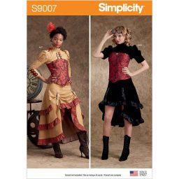 S9007 Misses' Steampunk Costumes