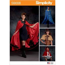 S9008 Misses' Cape with Tie Costumes