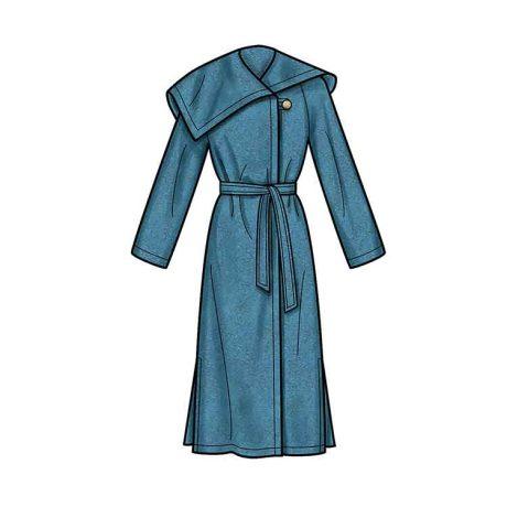 S9015 Misses' & Misses' Petite Coat with Belt