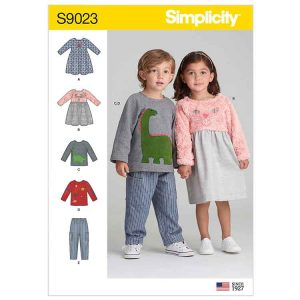 S9023 Toddlers' Dresses, Top & Pants