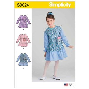 S9024 Childrens' Dress with Pocket Variations