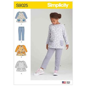 S9025 Children's Tops & Knit Leggings
