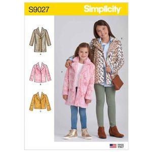 S9027 Children's & Girls' Lined Coat