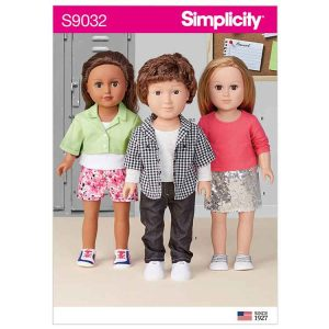"""S9032 18"""" Unisex Doll Clothes"""