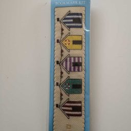 """Beach Huts"" bookmark cross-stitch embroidery kit"